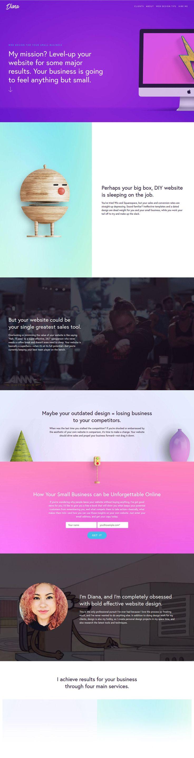 Diana.nu (More web design inspiration at topdesigninspiration.com) #design #web #webdesign #sitedesign #responsive #ux #ui