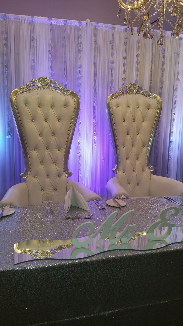 King Queen Chairs By Wez Enterprises Bride Groom