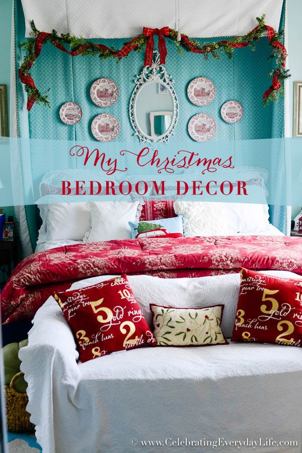 Christmas Bedroom Decorating Ideas 1076 best christmas home decor & more images on pinterest