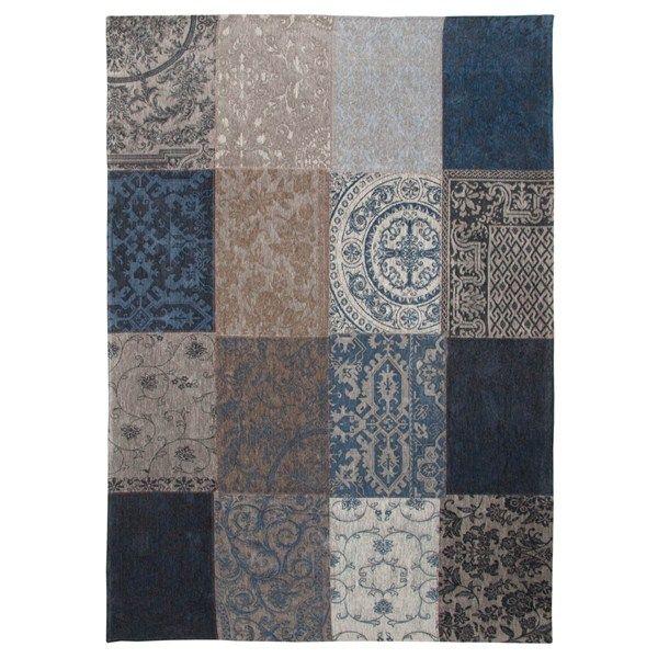 Louis De Poortere Rugs Vintage Multi 8108 Denim Blue