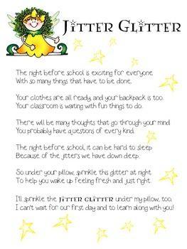 My twist on the jitter glitter poem…