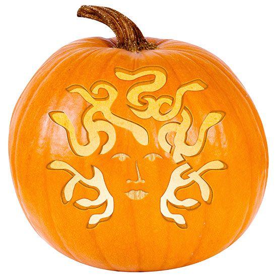 Medusa pumpkin stencil to be halloween carvings