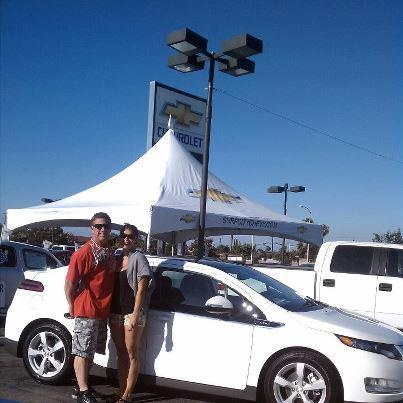 Congrats and thanks to Danielle & Derek on their purchase of a New Chevy Volt...awesome!