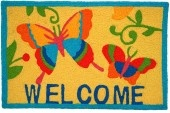 MadisonAtMain.com - Jellybean Accent Rug - Butterfly Welcome Gold