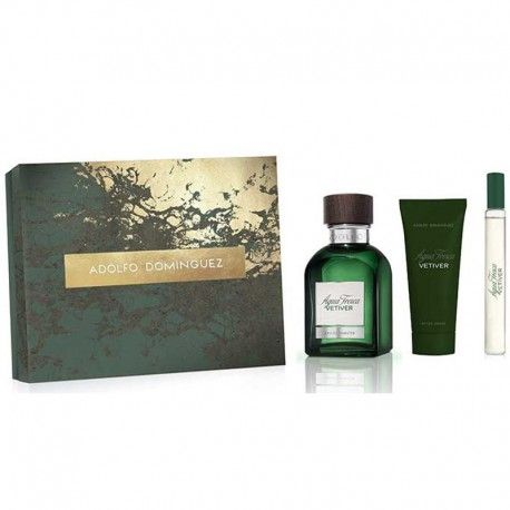 Estuche de regalo del #‎perfume‬ para hombre Adolfo Dominguez Agua Fresca Vetiver  de #AdolfoDominguez  https://perfumesana.com/adolfo-dominguez-marca/2876-adolfo-dominguez-agua-fresca-vetiver-estuche-edt-120-ml-spray-edt-20-ml-spray-after-shave-balm-75-ml-8410190618954.html
