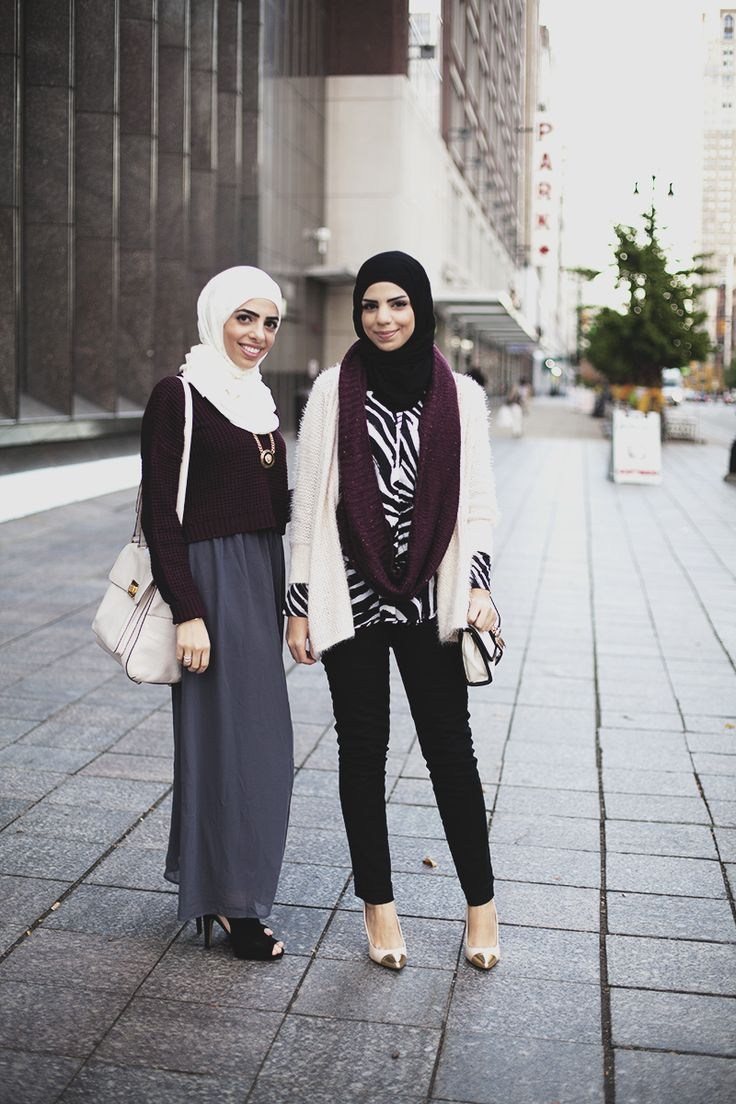 modeststreetfashion: Farah Jay & Heba Jay | Detroit, Michigan U.S.A. #ModestStreetFashion By: Langston Hues