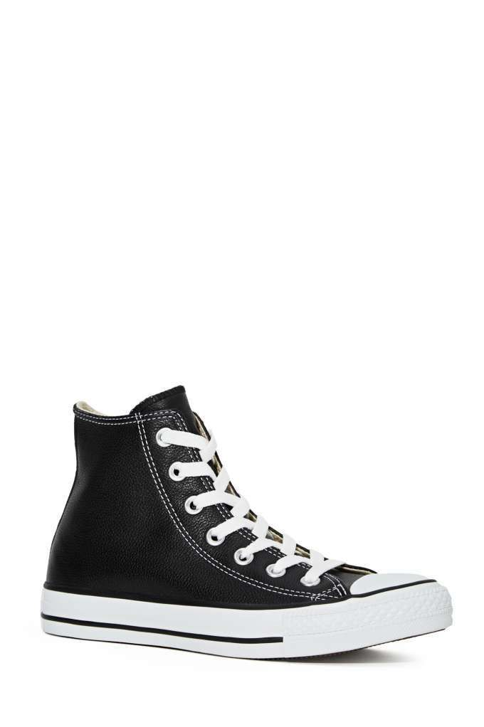 Converse All Star High-Top Sneaker - Black Leather - High-Tops