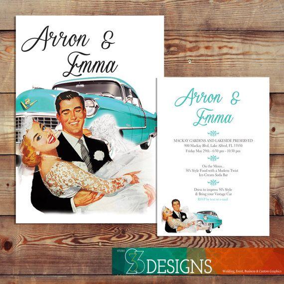 50s Wedding Invitations Wedding Ideas
