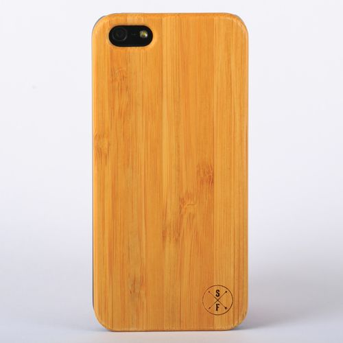 Bamboo Cabot Case - Black iPhone 5/5S - Composed of a solid piece of bamboo with a polycarbonate shell, this unique case offers protection from harmful elements and scratches. Plus, 20% of the sale goes to charity and 1 tree is planted per product sold!