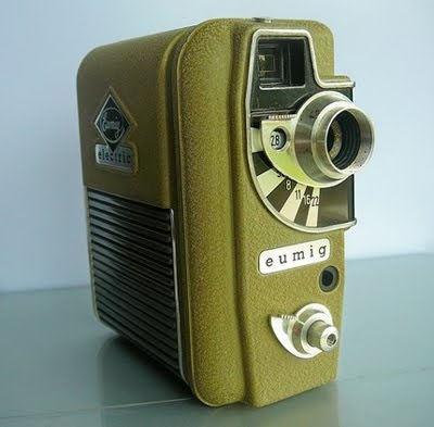 Etsy Vintage: Vintage Eumig 8mm 1955 Movie Camera. I'm going all silent movie...