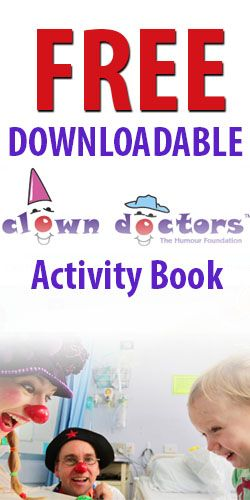 Free Downloadable Clown Doctors Activity Book #clowns #activitybook #free