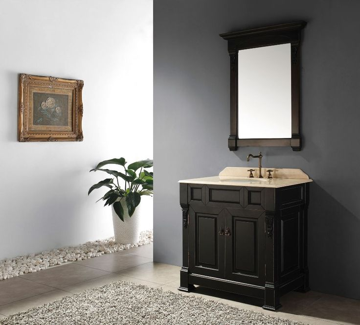 Single Vanity Light Ideas : Best 25+ Black Bathroom Vanities ideas on Pinterest Black bathroom mirrors, Double vanity and ...