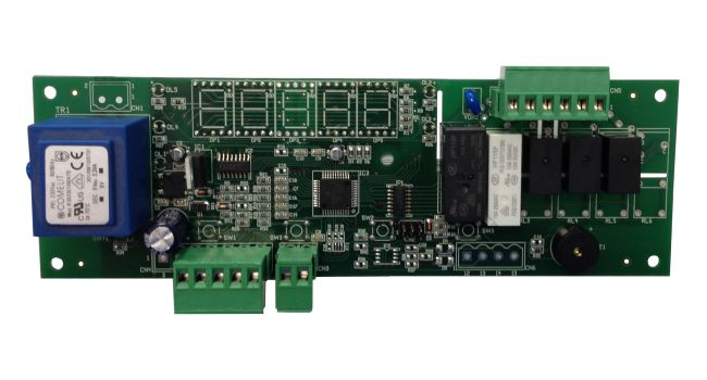 Electronic control board for drying and seasoning cabinets