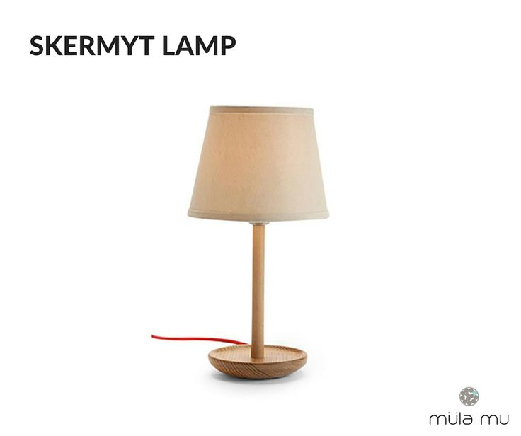 The SKERMYT LAMP is a classic table lamp. It is a sleek and modern lamp that can make itself comfortable anywhere you place it at. From the bedroom to the office, this basic lamp is every decorator's go-to piece.  Dimension: 250 x 250 x 400 mm  *Price does not include light bulbs. http://www.mulamu.com/product/skermyt-lamp/