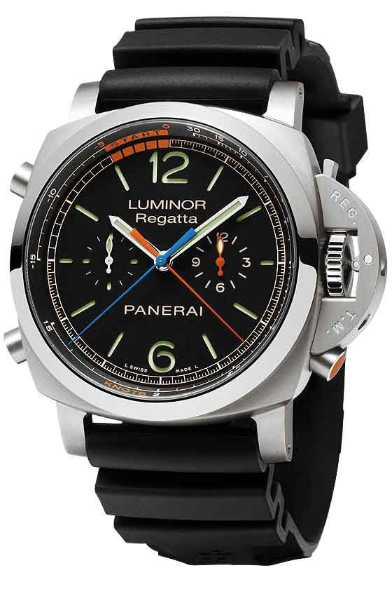 Panerai Luminor 1950 Regatta 3 Days Chrono Flyback Titanio For its new yachting watch, Panerai has created the easiest-to-use regatta countdown function on the market.