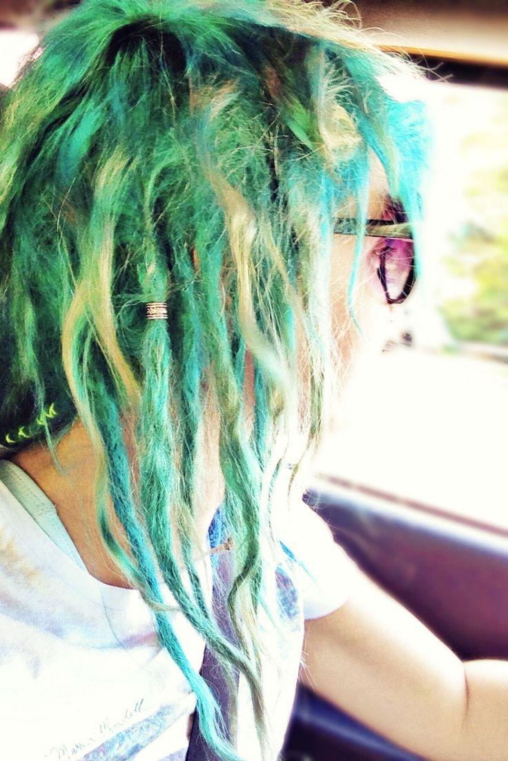 Dreadlocks Green hair Blue hair