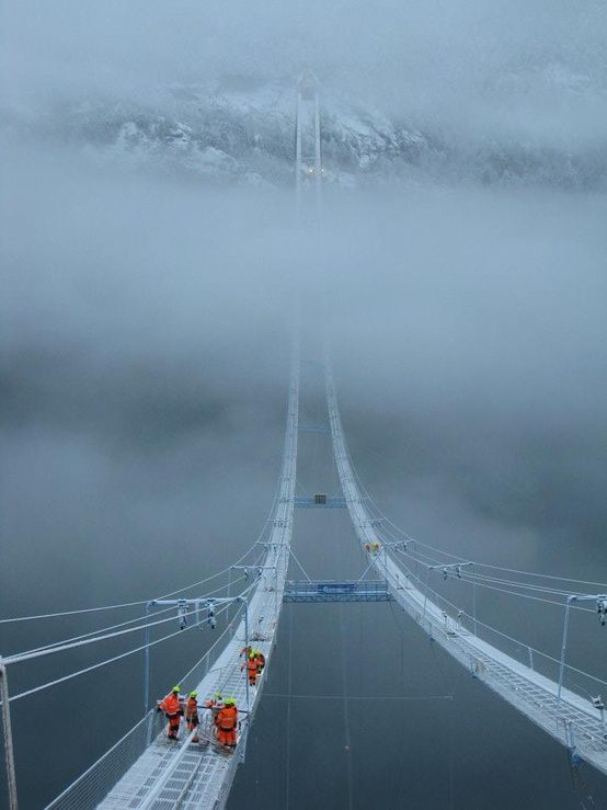 The Norway Sky Bridge - One of the scariest bridges in the world.