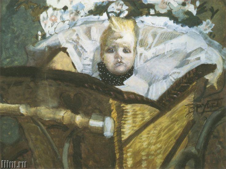 Врубель Михаил Александрович. Портрет сына художника. Акварель, белила. 1902.