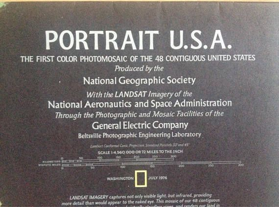 Portrait USA double sided map supplement to National