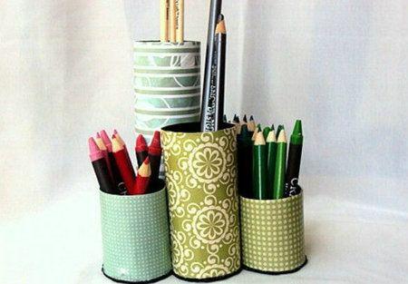 DIY pennenbakje van wc-rollen