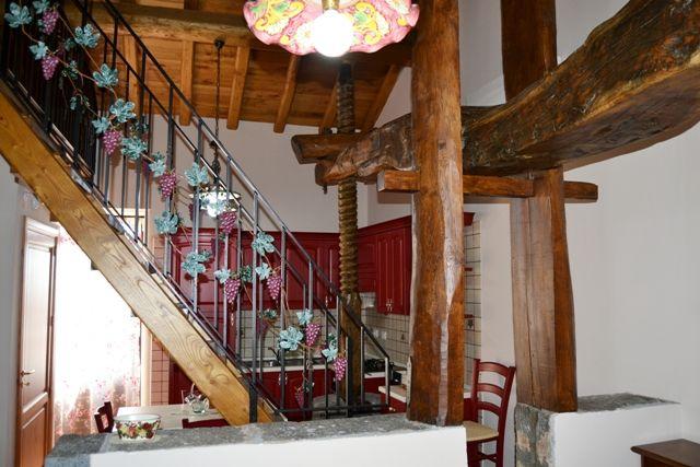 Cucina soggiorno. Casa Palmento. Agriturismo DolcEtna