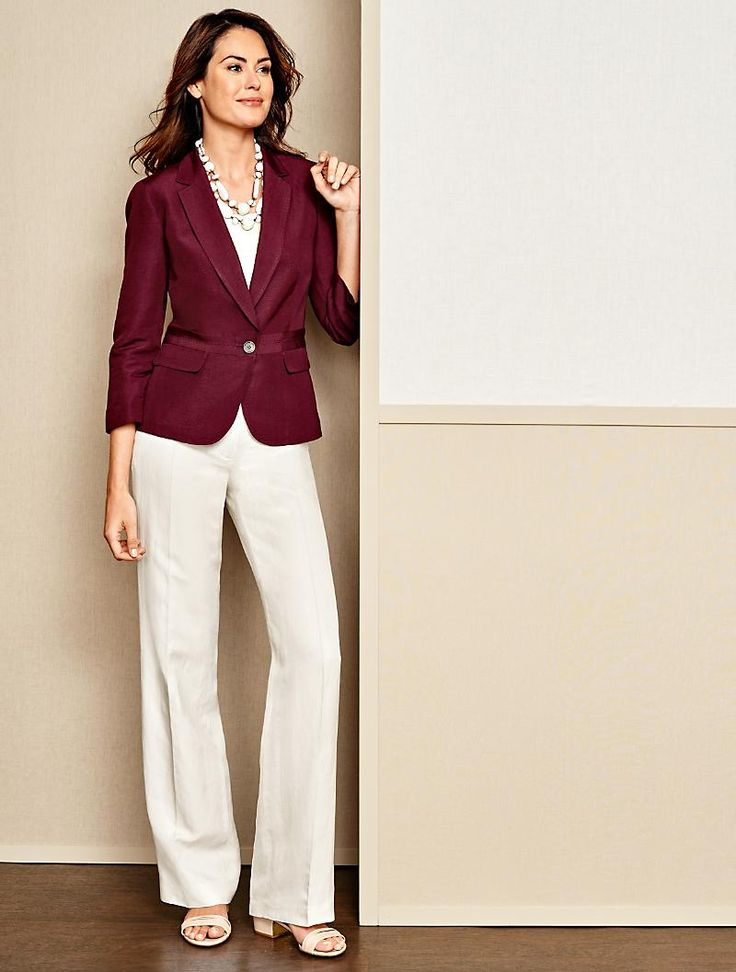 Talbots - Refined Linen Notched-Collar Jacket   New Arrivals  