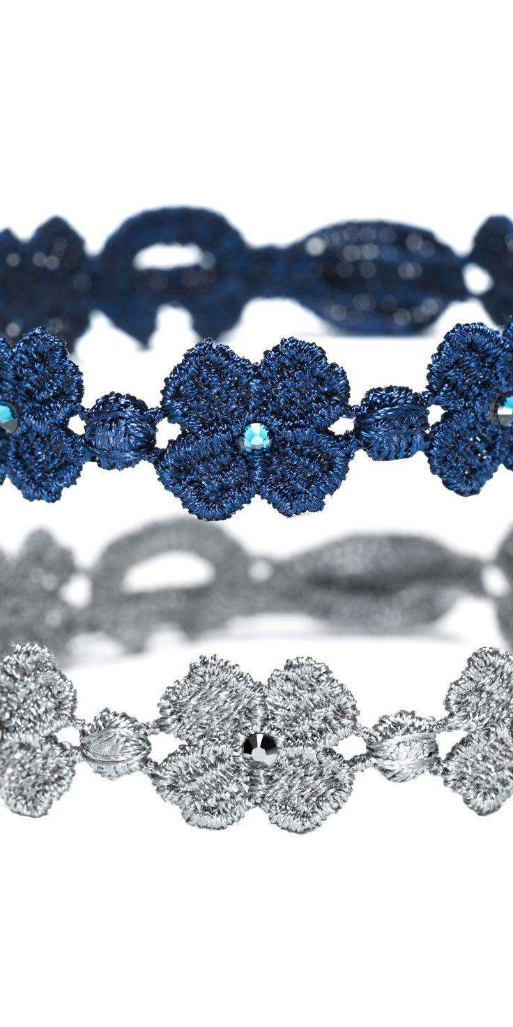 """Black-tie Bracelet - Cristallo"" The Swarovski Four-leaf Clover for men. #cruciani #bracelet #men"