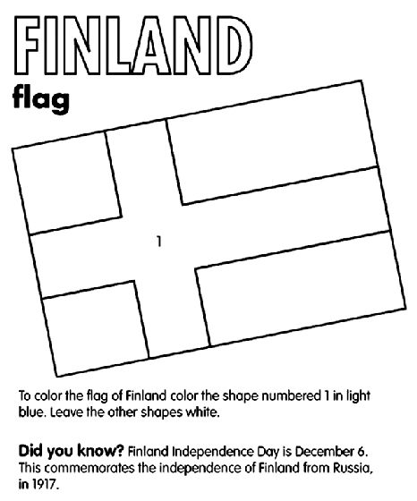 Finland Flag coloring page