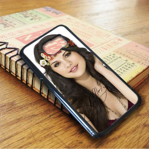 Selena Gomez Cute Flowers Signature Samsung Galaxy S7 Case