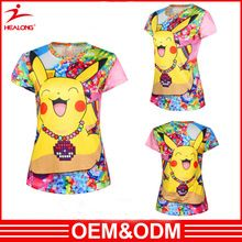 Custom design 100% polyster t shirt digital printing 3d pattern animal Tshirt Sublimation for women  best seller follow this link http://shopingayo.space