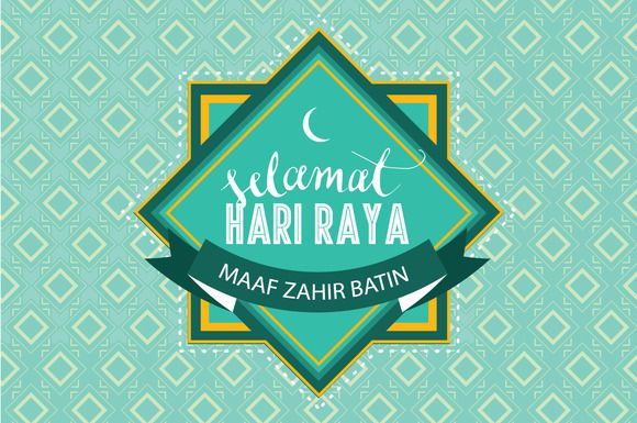hari raya greeting template vector by lyeyee on Creative Market