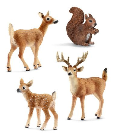 Love this Squirrel & Deer Figurine Set by Schleich on #zulily! #zulilyfinds