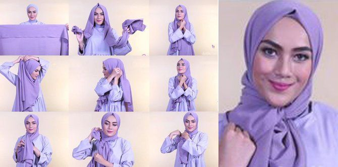 Tutorial Hijab Segi Empat Jadi Pashmina
