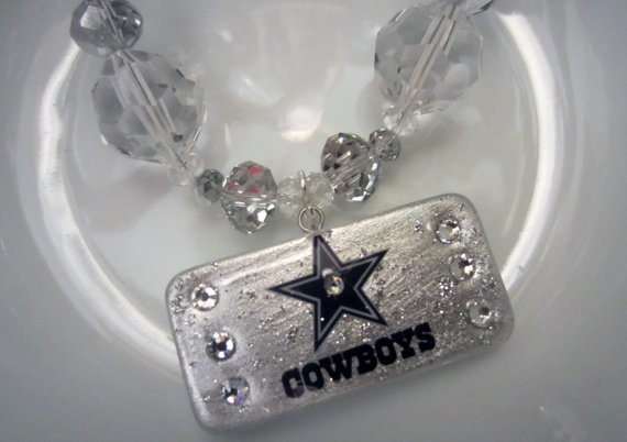 Dallas Cowboys Necklace by AngWilliams on Etsy, $42.00
