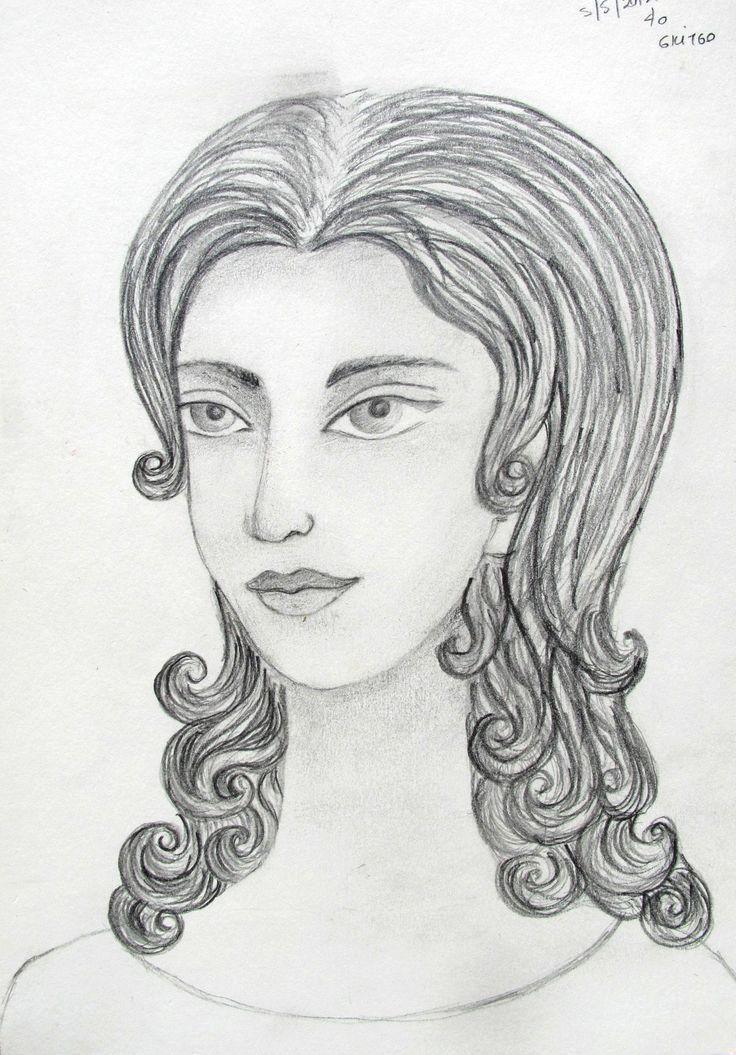 pencil, portrait