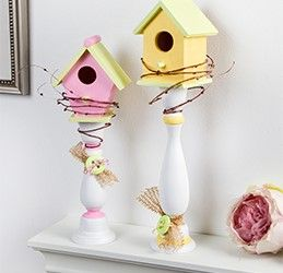 Everyone will flock to your house this Spring when you decorate with these Spring Candlestick Birdhouses! Get everything you'll need to make them at your local Pat Catan's!
