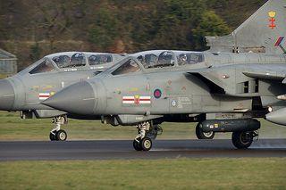 Royal Air Force Panavia Tornado GR4 ZA600-EB-G 'APOLLO1' & ZA607-EB-X 41(R)TES 'APOLLO2' - RAF Coningsby Pairs departure | by Jamie Ewan - Flyingmonster
