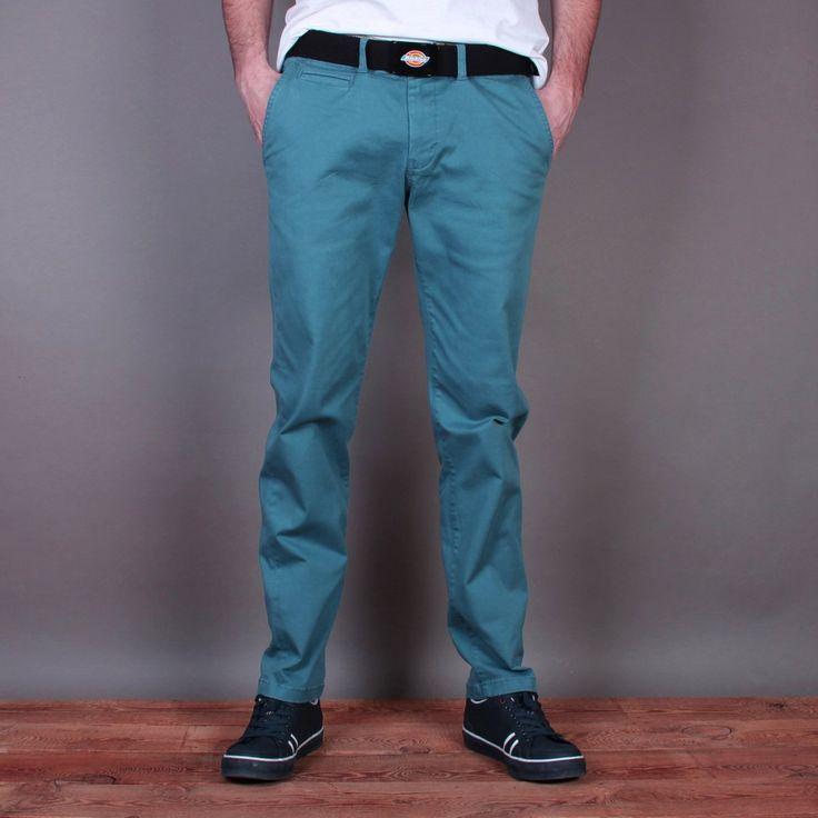 Niebieskie męskie spodnie materiałowe Dickies Calabasas / www.brandsplanet.pl / #dickies streetwear