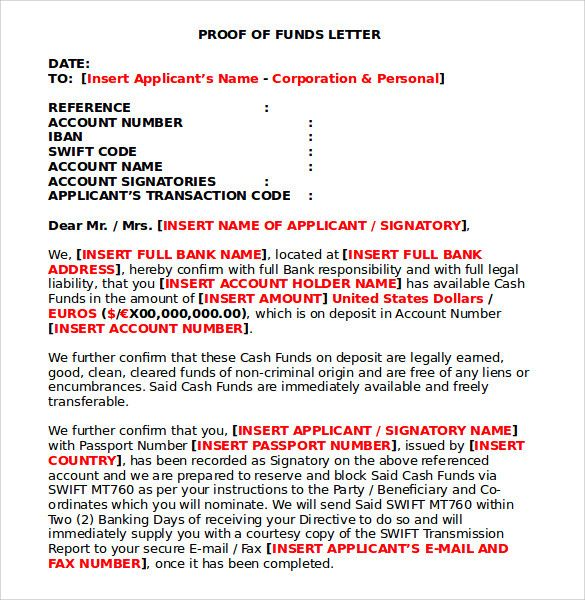 Free Proof Of Funds Letter from i.pinimg.com