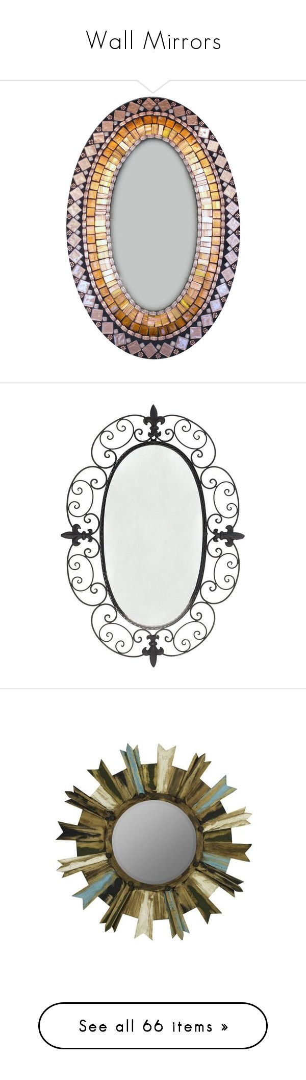 """""""Wall Mirrors"""" by amazing-yessi on Polyvore featuring home, home decor, mirrors, home & living, home décor, silver, copper mirror, oval wall mirror, brown mirror and rectangular wall mirror"""