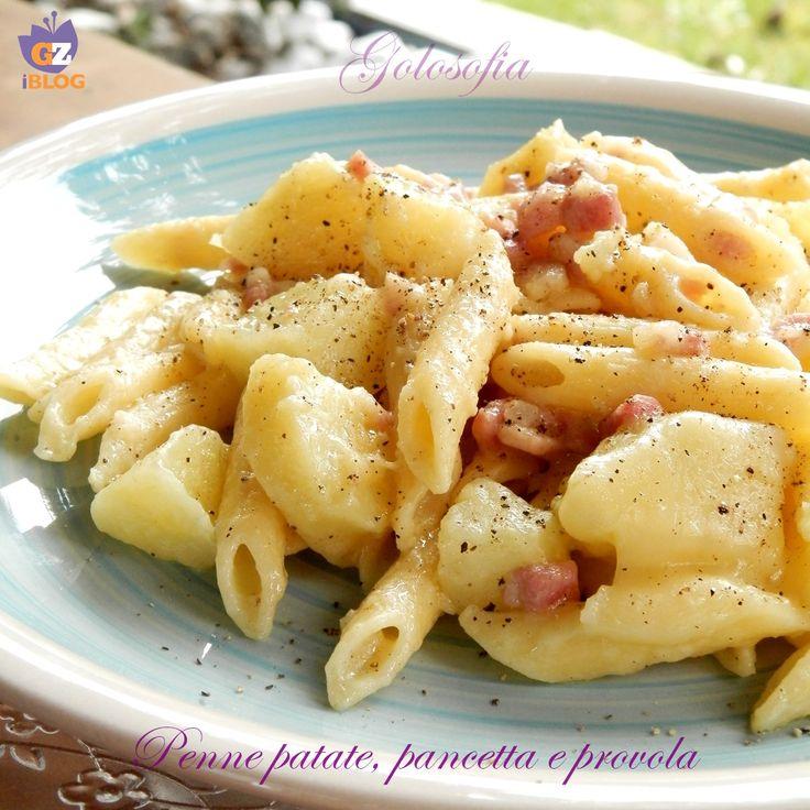 Penne con patate, pancetta e provola, ricetta gustosissima