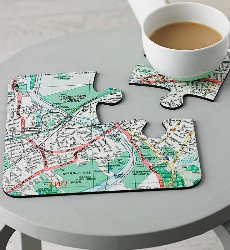 Best Map Coasters Ideas On Pinterest Map Crafts Make Your - Four old us maps in holder