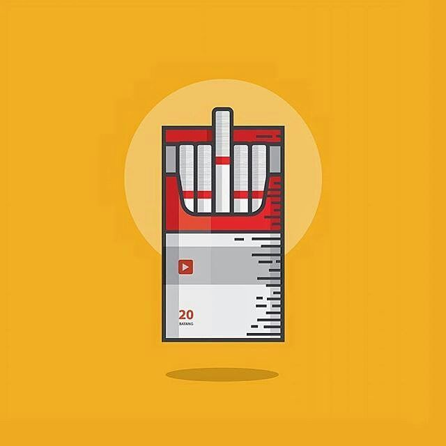 """119 Likes, 7 Comments - Graphic Design Treasures (@pirategraphic) on Instagram: """"Cigarette illustration by @kreasi.mimpi  #cigarette #vector #icon #illustration #design #ai…"""""""