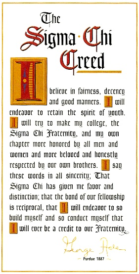 The Sigma Chi Creed