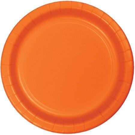 Sunkissed Orange Plates, 8pk