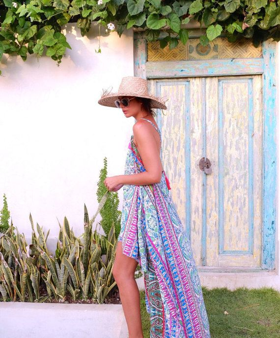 Africa Dress - Ladies Cocktail Dress, Maxi Dress with High Low Hem, Mini Dress with Cape Overlay