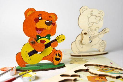 Конструктор 3D-пазл Ugears 4kids - Медвежонок купить в интернет-магазине Dreamstoy