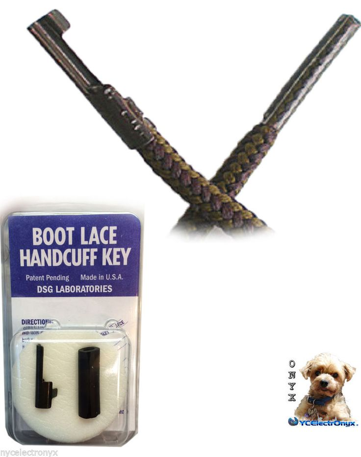 Boot Lace Covert Handcuff Key - Engineered to have near zero chance of detection