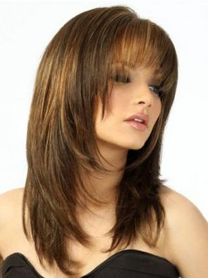 Medium Brown Straight Human Hair Wigs, 100 Human Hair Wigs for Black Women, Remy Hair Wigs Cheap
