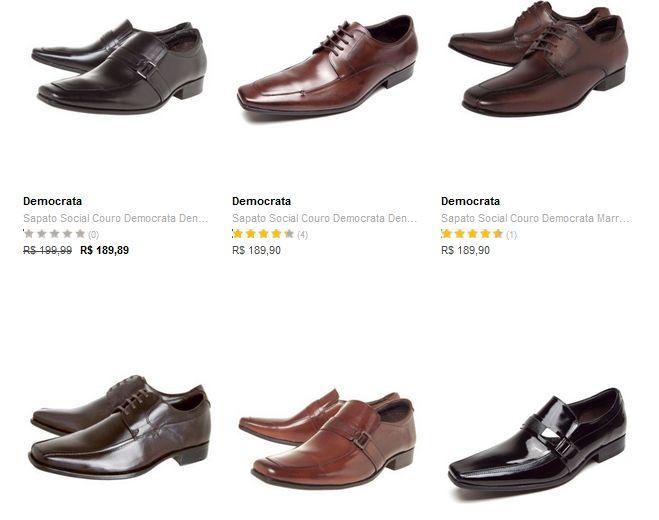 Sapatos Sociais Democrata - Vários Modelos - a partir de << R$ 11193 em 5 vezes >>
